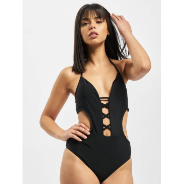 Urban Classics Swimwear Lace Up black