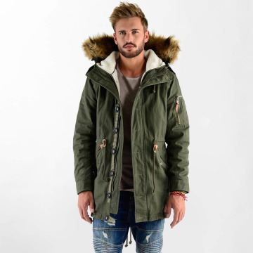 VSCT Clubwear Winter Jacket Luxury Parka olive