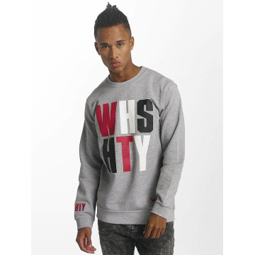 Who Shot Ya? Pullover ? WHSHTY Crew Neck Grey...