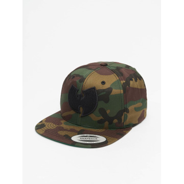 Wu-Tang Snapback Cap Camo Logo camouflage
