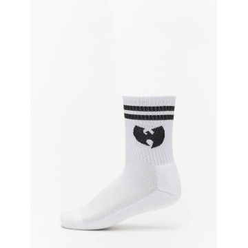 Wu-Tang Socks Logo white