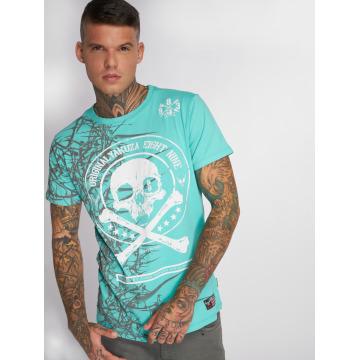 Yakuza T-Shirt Face turquoise