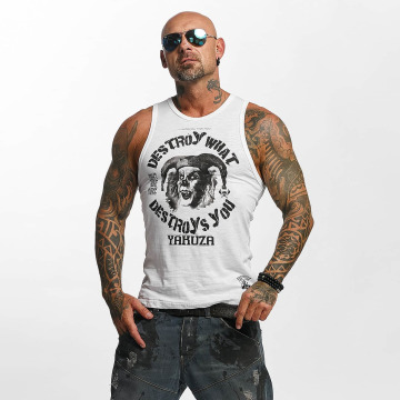 Yakuza Tank Tops Destroy white