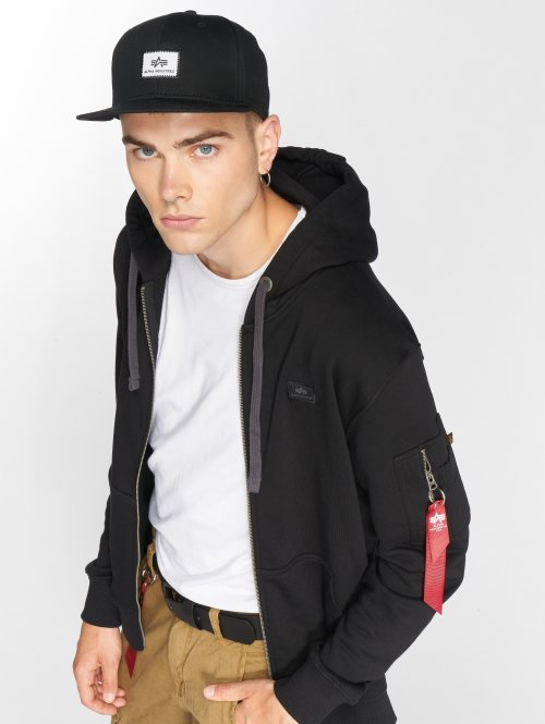 Alpha Industries Zip Hoodie X-Fit black
