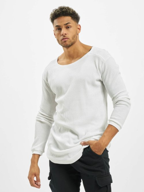 Urban Classics Longsleeve Long Shaped Waffle white