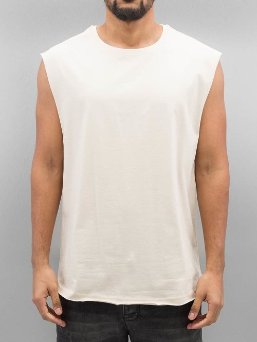Urban Classics Tank Tops Open Edge Sleeveless beige