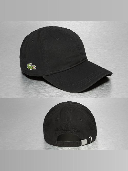 Lacoste Snapback Cap Gabardine Croc Strapback Cap black