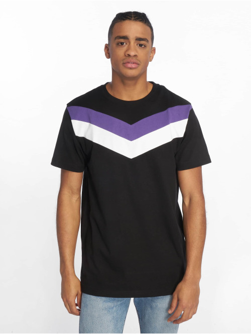 DEF T-Shirt  Chevron T-Shirt Black Vi...