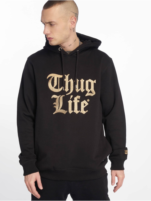 Thug Life Hoodie  Tight Hoody Black/Golden...