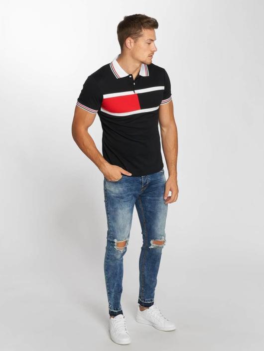 Aarhon Poloshirt Block Stripes black
