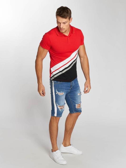 Aarhon Poloshirt Diagonal red