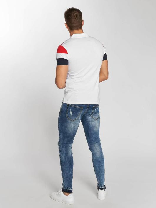 Aarhon Poloshirt Tricolor white