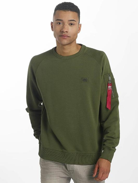 Alpha Industries Pullover X-Fit green