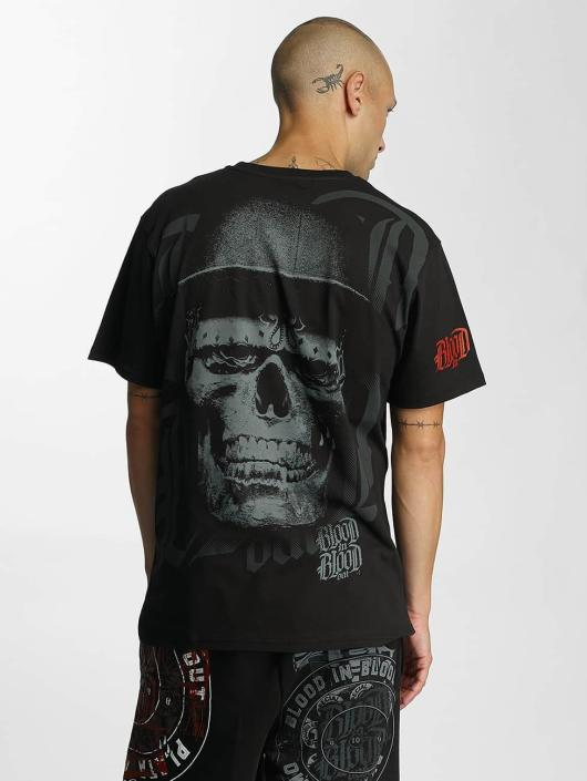 Blood In Blood Out T-Shirt Skull Hat black