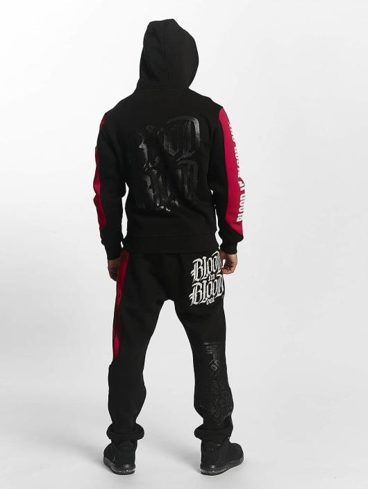 Blood In Blood Out Zip Hoodie Clean black