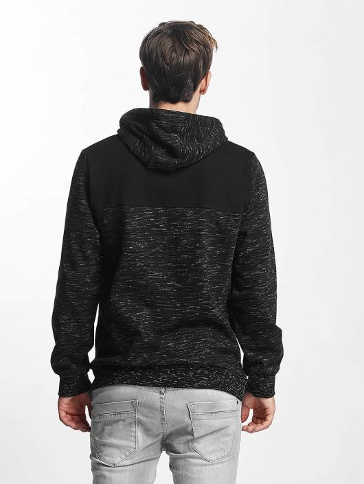 Brave Soul Hoodie Fleck Detail To Body black
