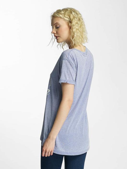 Brave Soul T-Shirt Burn Out V-Neck blue