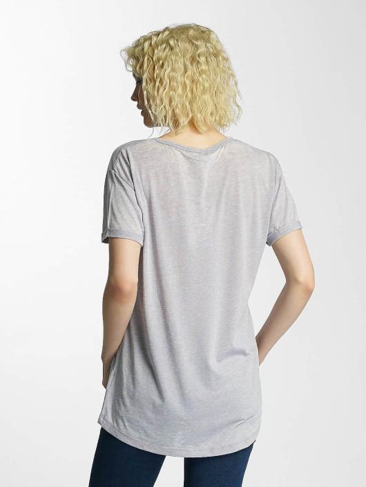 Brave Soul T-Shirt Soul Burn Out V-Neck gray