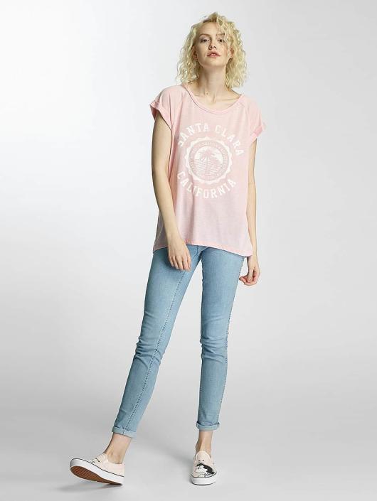 Brave Soul T-Shirt Burn Out Crew Neck rose