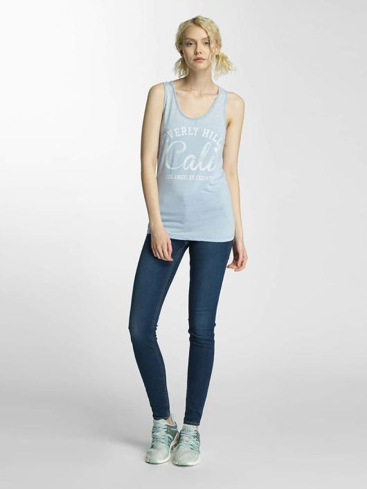 Brave Soul Tank Tops Soul Burn Out blue