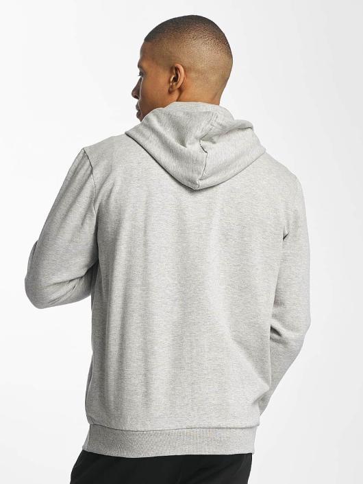 Brave Soul Zip Hoodie Through gray