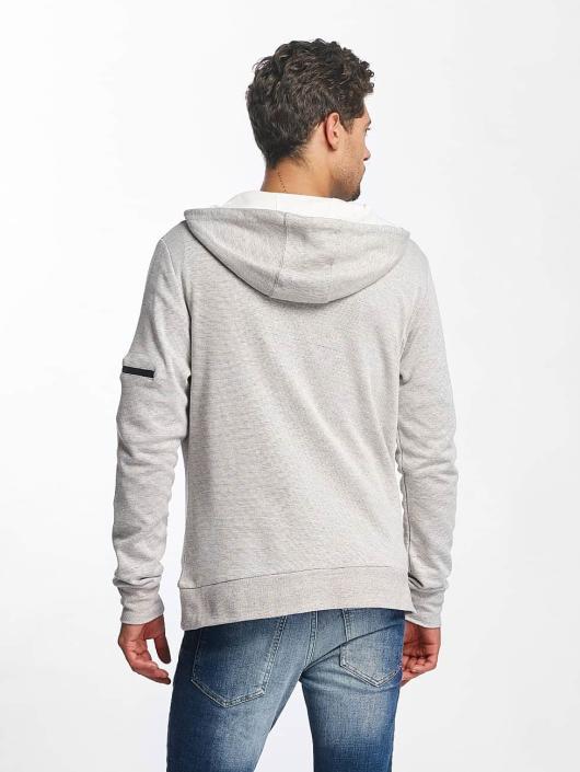 Brave Soul Zip Hoodie PROF gray