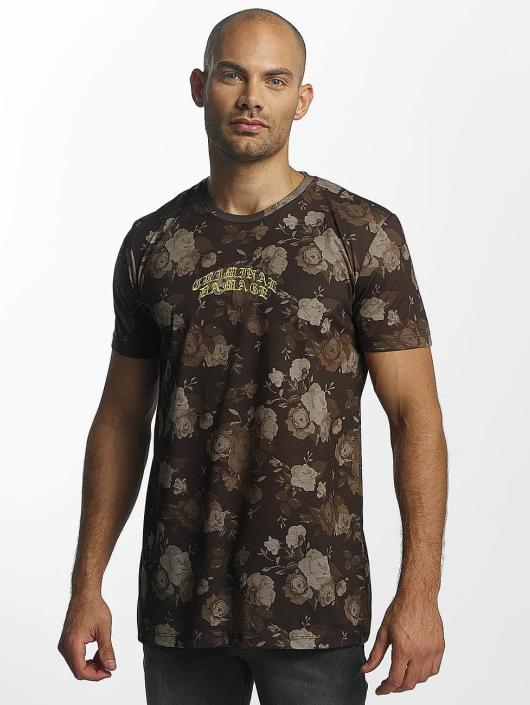 Criminal Damage T-Shirt Vine brown