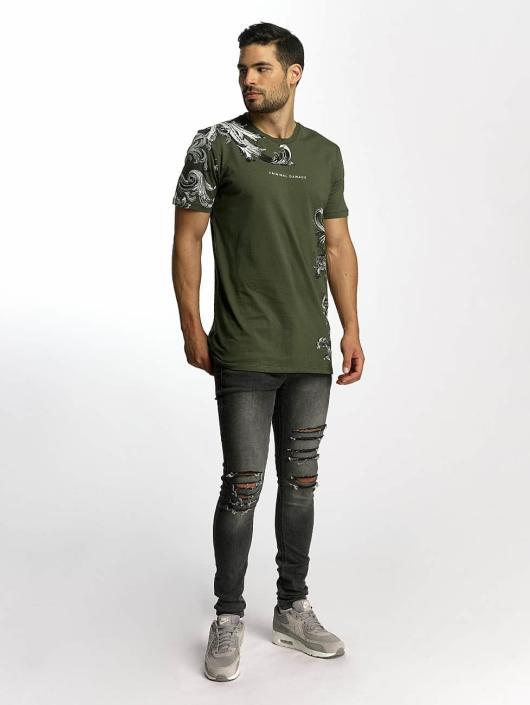Criminal Damage T-Shirt Paulo olive