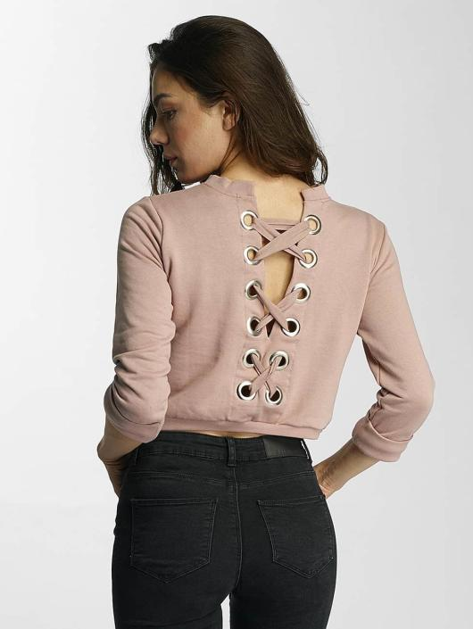 DEF Pullover Lace-up rose