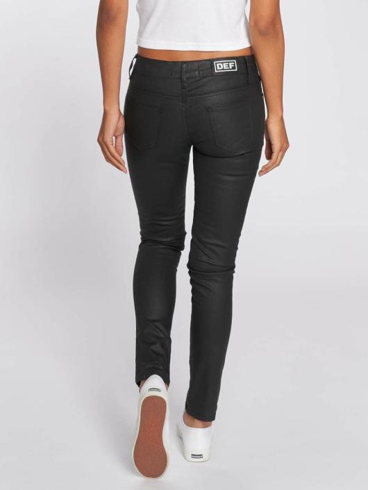 DEF Slim Fit Jeans Leatherlook black