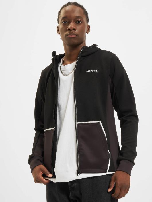 DEF Sports Zip Hoodie Vitas black