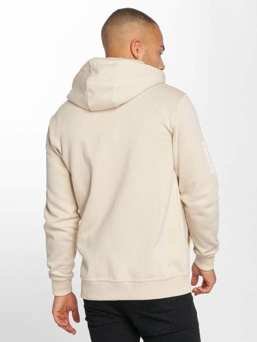 DEF Zip Hoodie Star beige