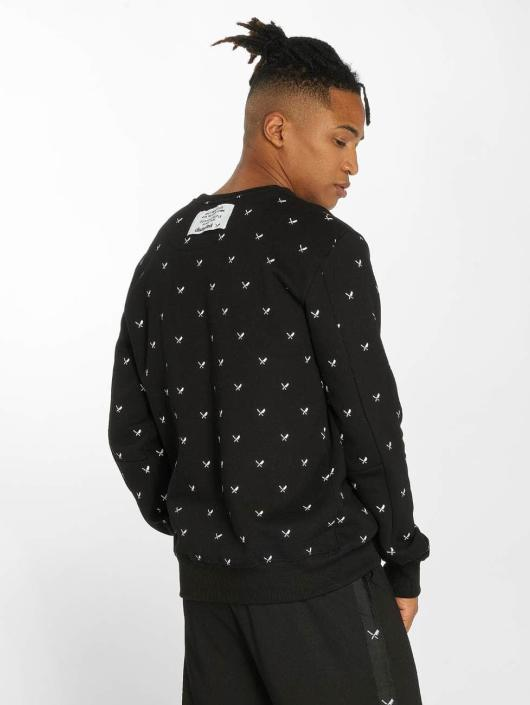 Distorted People Pullover Allover Blades black
