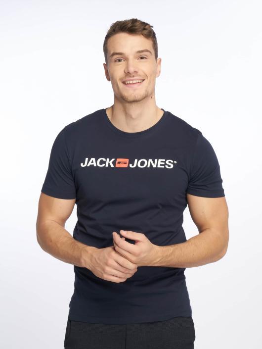 Jack & Jones T-Shirt jjeCorp Logo blue