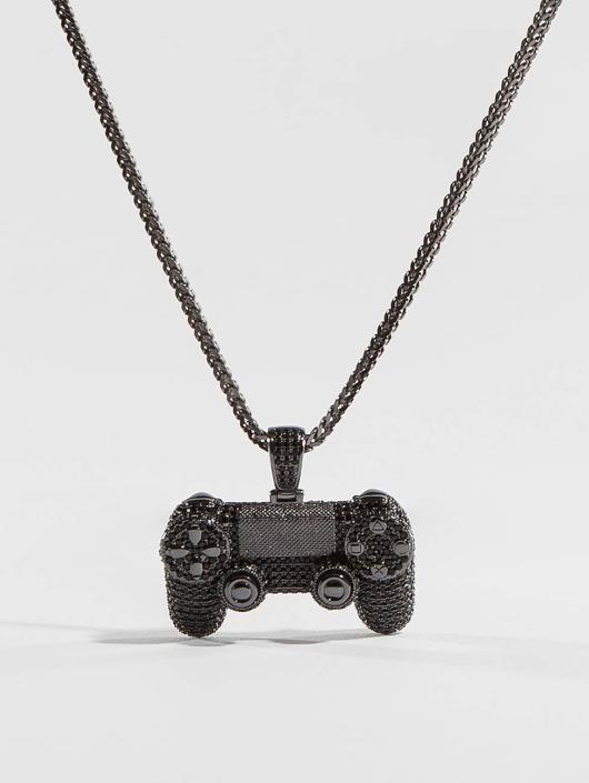 KING ICE Necklace CZ Pro Gamer Controller black