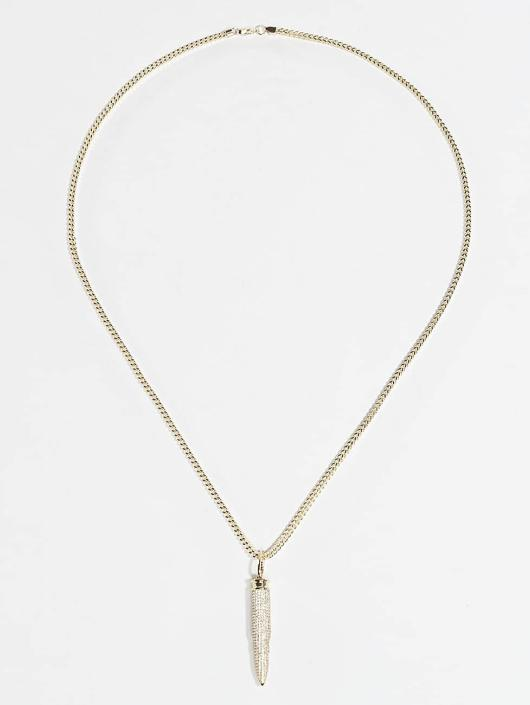 KING ICE Necklace Gold_Plated CZ 223 Caliber Bullet gold