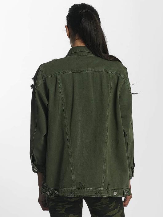 Leg Kings Denim Jacket Hello Miss khaki