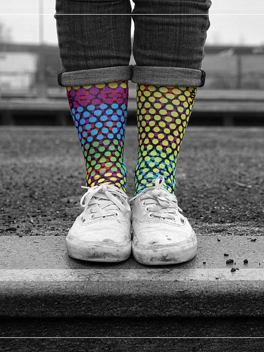 LUF SOX Socks Glow Dots colored