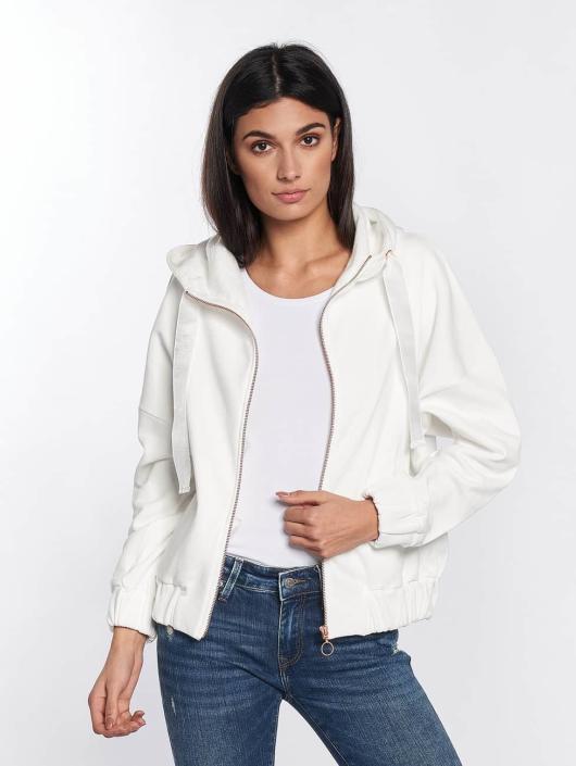 Mavi Jeans Zip Hoodie Zip Up white