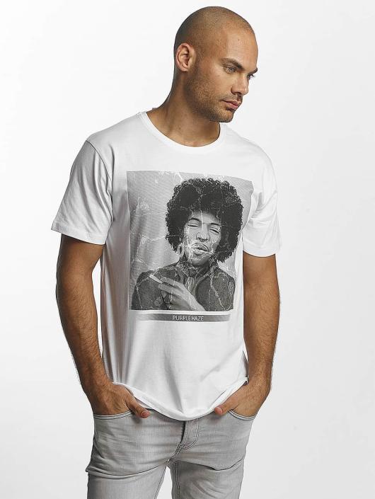 Merchcode T-Shirt Jimi Hendrix Purple Haze white