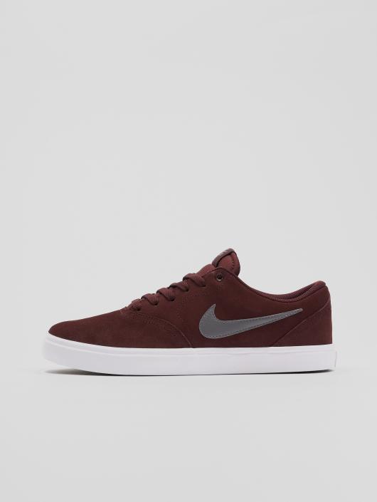Nike SB Sneakers Sb Check Solarsoft Skateboarding red