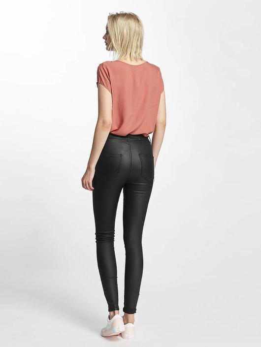 Noisy May Skinny Jeans nmElla Deluxe Coated black