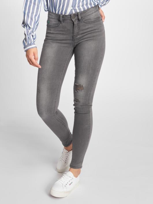 Noisy May Skinny Jeans nmLucy Coffee Dest gray