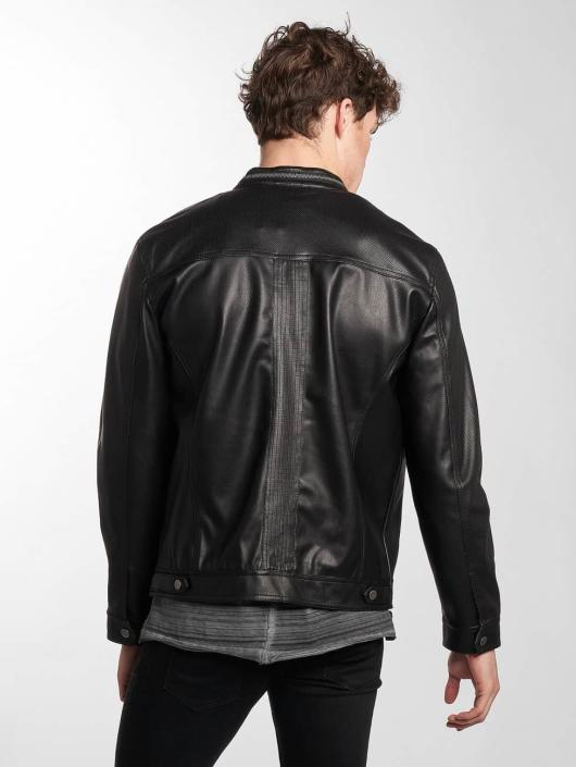 Only & Sons Leather Jacket onsLondon black