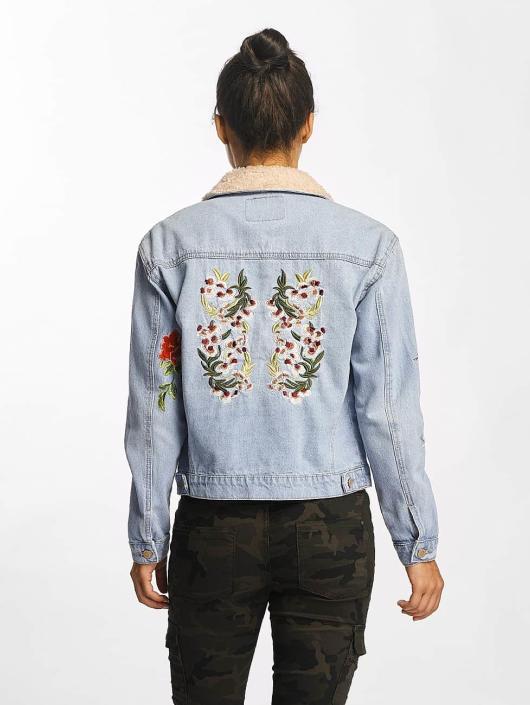 Only Denim Jacket onlCaroline Mega Emb blue