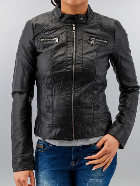 Only Leather Jacket Bandit PU Biker black