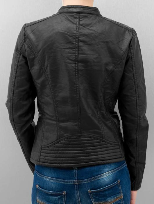 Only Leather Jacket onlFreya black