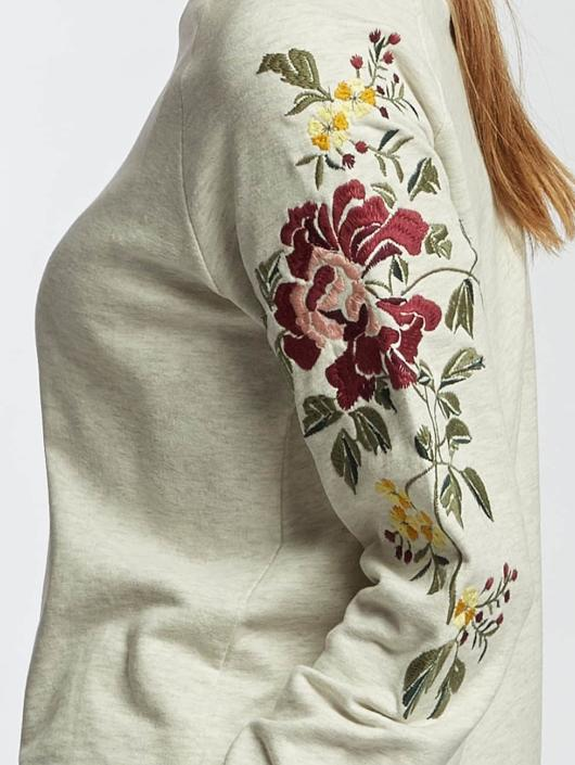 Only Pullover onlDarma Flower Embroidery beige