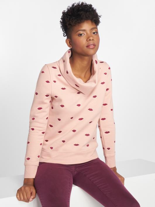 Only Pullover onlLisa Zip Highneck rose