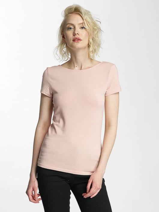 Only T-Shirt onlLive Love Lace Up rose